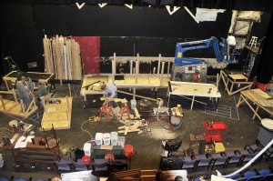 "First day of set work for ""Full Circle"". One has to make a mess in order to create, right?"